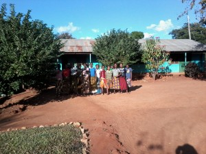 Mwalimu Nyerere Hostelers in Front of their Dining Hall